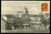 Le Valdahon Village carte postale ancienne