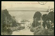 Saint Claude Ville Le pont suspendu carte postale ancienne